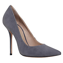 Buy Kurt Geiger Ellen High Heel Court Shoes, Grey Suede Online at johnlewis.com