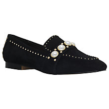 Buy Carvela Leighton Embellished Loafers, Black Online at johnlewis.com