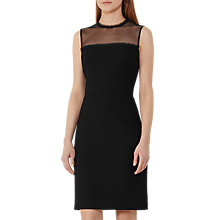 Buy Reiss Madeline Mesh Panel Dress, Black Online at johnlewis.com