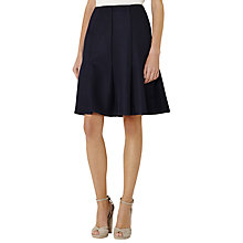 Buy Reiss Harmony Textured Fit and Flare Skirt, Night Navy Online at johnlewis.com