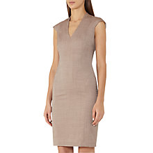 Buy Reiss Turner Tailored Dress, Burnt Rose Online at johnlewis.com