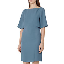 Buy Reiss Draped Neckline Dress, Marine Online at johnlewis.com