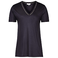Buy Reiss Ele V-Neck T-Shirt, Navy Online at johnlewis.com