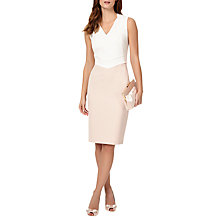Buy Phase Eight Mila Fringe Dress, Cameo/Ivory Online at johnlewis.com