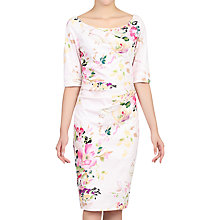 Buy Jolie Moi Retro Floral Print Half Sleeve Dress Online at johnlewis.com