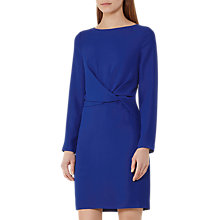 Buy Reiss Elle Knotted Front Dress, Sapphire Online at johnlewis.com