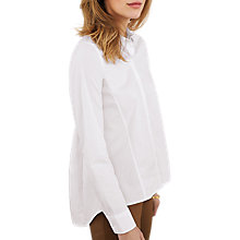 Buy Pure Collection Cotton Trapeze Shirt, White Online at johnlewis.com