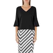 Buy Marc Cain Bell Sleeve Jersey Top, Black Online at johnlewis.com