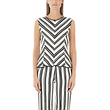Buy Marc Cain Sleeveless Chevron Top, Cream/Black Online at johnlewis.com