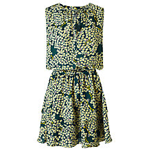 Buy Maison Scotch Floral Print Tiered Skirt Dress, Green/Multi Online at johnlewis.com