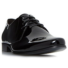 Buy Bertie Police Patent Derby Shoes, Black Online at johnlewis.com