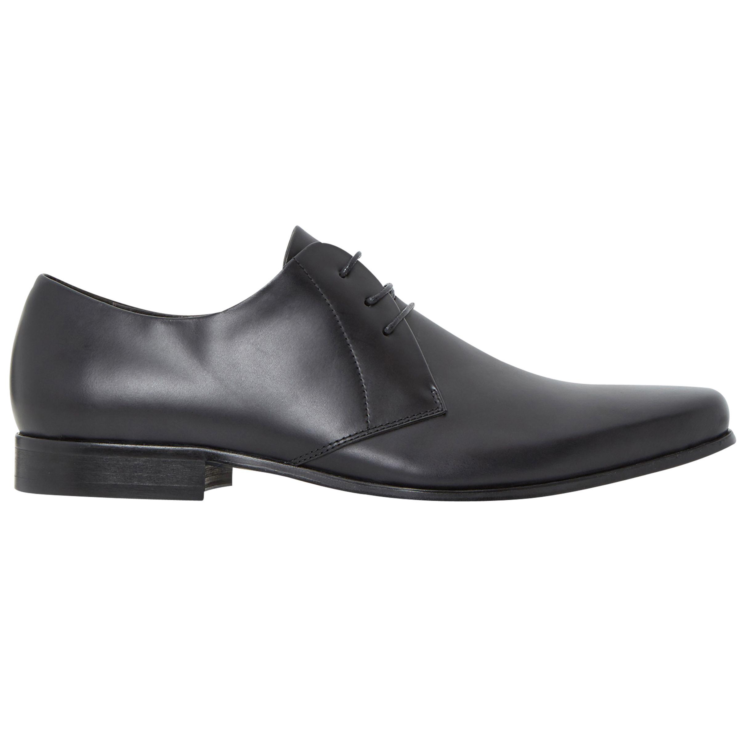 Bertie Bertie Police Leather Derby Shoes, Black