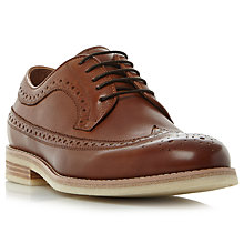 Buy Bertie Pusha Leather Brogues, Tan Online at johnlewis.com