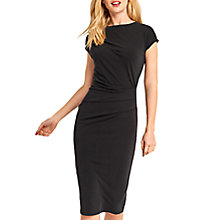 Buy Oasis Drape Dress, Dark Grey Online at johnlewis.com