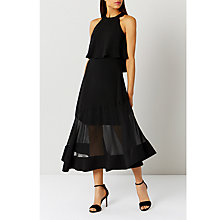Buy Coast Lola Midi Dress, Black Online at johnlewis.com