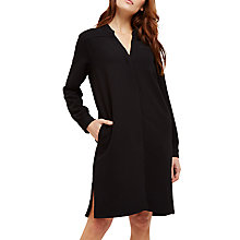 Buy Jaeger Collarless Split Hem Dress, Black Online at johnlewis.com