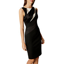 Buy Karen Millen Diagonal Seam Pencil Dress, Black/White Online at johnlewis.com