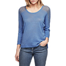 Buy Gerard Darel Perle Linen Jumper, Light Indigo Online at johnlewis.com