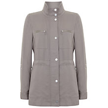 Buy Mint Velvet Latte Safari Jacket, Taupe Online at johnlewis.com