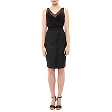 Buy Ted Baker Tiornas Ottoman Detail Pencil Skirt, Black Online at johnlewis.com