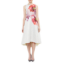 Buy Ted Baker Expressive Pansy Jenn Jacquard Dress, Light Grey Online at johnlewis.com