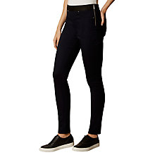 Buy Karen Millen Satin Denim Leggings, Blue Online at johnlewis.com