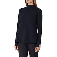 Buy Reiss Sofie Peplum Knit, Navy Online at johnlewis.com