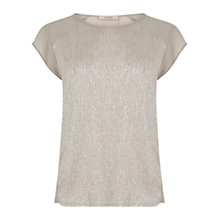 Buy Oasis Crinkle Peplum Back Top, Pale Grey Online at johnlewis.com