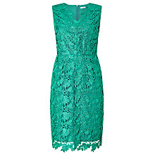 Buy Precis Petite Dhalia Lace Shift Dress, Mid Green Online at johnlewis.com