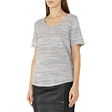Buy Reiss Sheva Alva Striped T-Shirt, Off White/Black Online at johnlewis.com