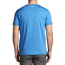 Buy BOSS Green Tee 1 Logo Cotton T-Shirt, Medium Blue Online at johnlewis.com