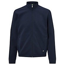Buy BOSS Green C-Cannobio Jacquard Full-Zip Sweat Jacket, Navy Online at johnlewis.com