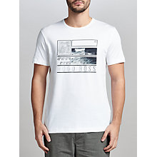 Buy BOSS Green Tee 4 Logo Cotton T-Shirt, White Online at johnlewis.com