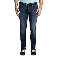 Buy BOSS Green C-Delaware Faded Slim Fit Jeans, Medium Blue Online at johnlewis.com