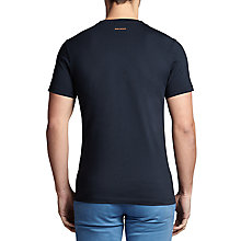 Buy BOSS Orange Tacket Slim Fit Logo T-Shirt, Dark Blue Online at johnlewis.com