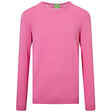 Buy BOSS Green C-Caspar Crew Neck Jumper, Open Purple Online at johnlewis.com