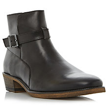 Buy Bertie Cubaa Leather Boots, Black Online at johnlewis.com