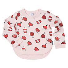Buy Polarn O. Pyret Girls' Ice Cream Sweatshirt, Pink Online at johnlewis.com