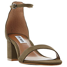Buy Steve Madden Irenee Two Part Glitter Block Sandals Online at johnlewis.com