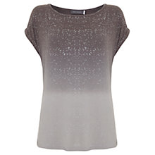 Buy Mint Velvet Ombre Metallic T-Shirt, Mocha Online at johnlewis.com