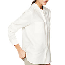 Buy Mint Velvet Open Back Shirt, Ivory Online at johnlewis.com