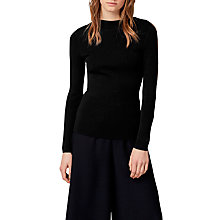 Buy Warehouse Slash Sleeve Jumper, Black Online at johnlewis.com