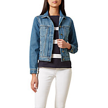 Buy Hobbs Alexandra Jacket, Indigo Wash Online at johnlewis.com