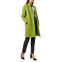 Buy Hobbs Rowena Wool Blend Coat, Kiwi Green Online at johnlewis.com
