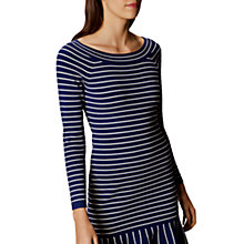 Buy Karen Millen Fine Stripe Jumper Dress, Blue/Multi Online at johnlewis.com