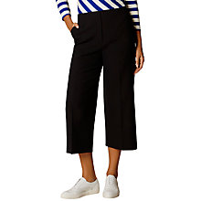Buy Karen Millen Cropped Wide Leg Trousers, Navy Online at johnlewis.com