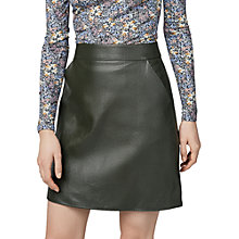 Buy Warehouse Faux Leather Core Pelmet Skirt Online at johnlewis.com