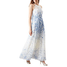 Buy Hobbs Alexis Maxi Dress, Ivory/Blue Online at johnlewis.com
