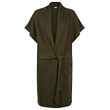 Buy Hobbs Sara Longline Cardigan, Khaki Online at johnlewis.com