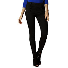 Buy Karen Millen Button Detail Leggings, Black Online at johnlewis.com